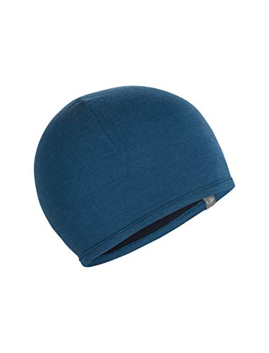 Icebreaker Merino Pocket Cold Weather Hats, One Size, Prussian Blue/Midnight Navy