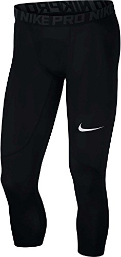 NIKE Men's Pro 3/4 Tight, Black/Anthracite/White, Large