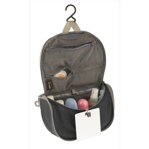 Sea to Summit Travelling Light Hanging Toiletry Bag, Black, Small
