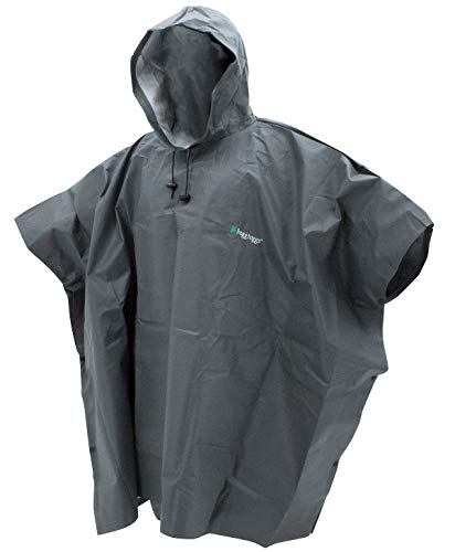 FROGG TOGGS Men's Standard Ultra-Lite2 Waterproof Breathable Poncho, Carbon Black, One Size