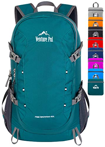 Venture Pal 40L Lightweight Packable Travel Hiking Backpack Daypack, A1 Green, One Size