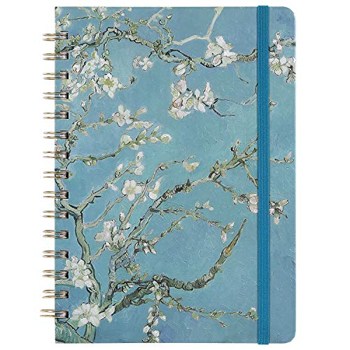 Ruled Journal/Notebook- Lined Journal, 6.3' X 8.35', Hardcover, Back Pocket, Strong Twin-Wire Binding with Premium Paper, College Ruled Spiral Notebook/Journal, Perfect for School, Office & Home