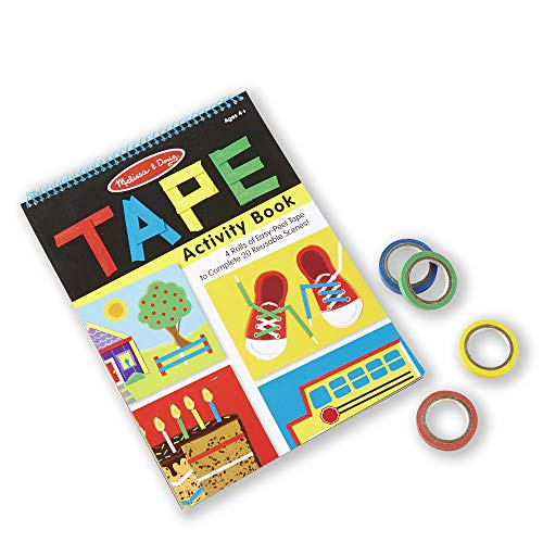 Melissa & Doug Tape Activity Book: 4 Rolls of Easy-Tear Tape and 20 Reusable Scenes
