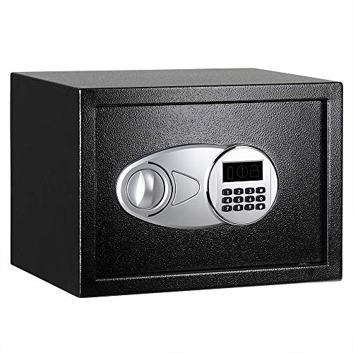 AmazonBasics Steel, Security Safe Lock Box, Black - 0.5 Cubic Feet
