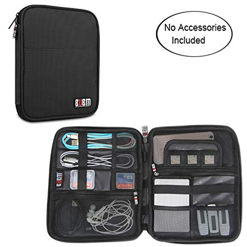 BUBM Travel Organizer for Electronics Accessories Hard Drives (Black)